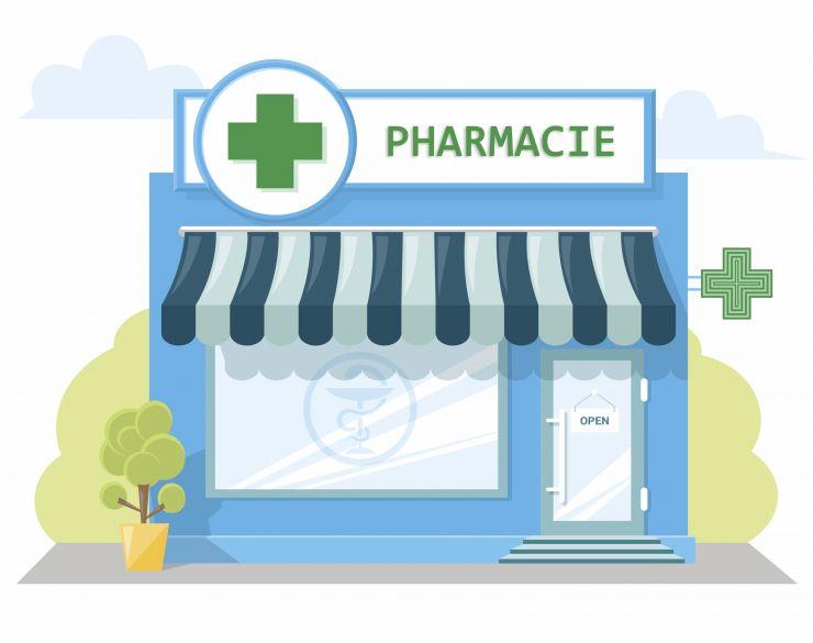 Pharmacie dessin rvb